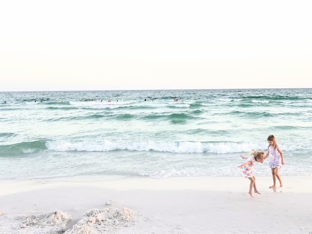 destin florida beach at sunset